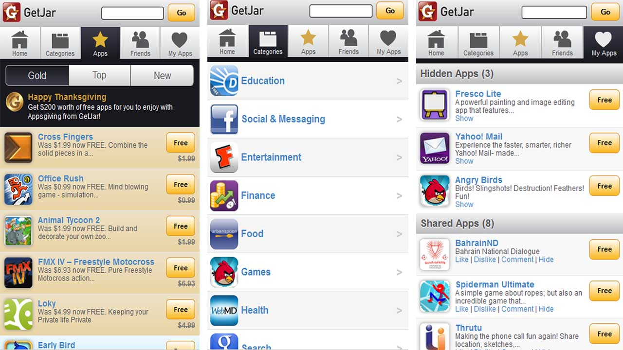 Getjar Apps