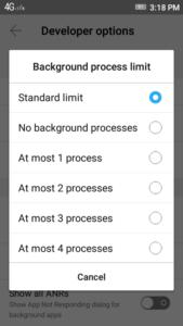 Background-process-limit