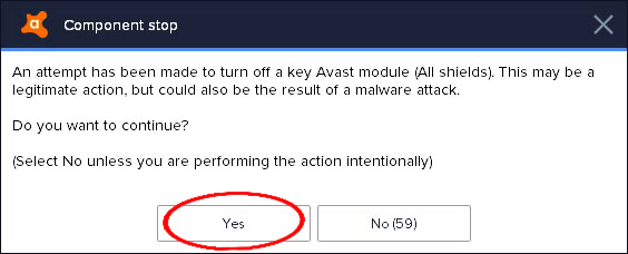 turn off avast antivirus
