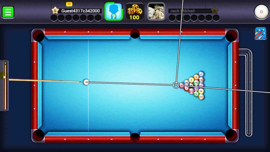 8 Ball Pool Long Line Trick