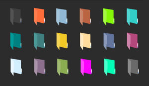 folders flat colors icon pack for windows 10