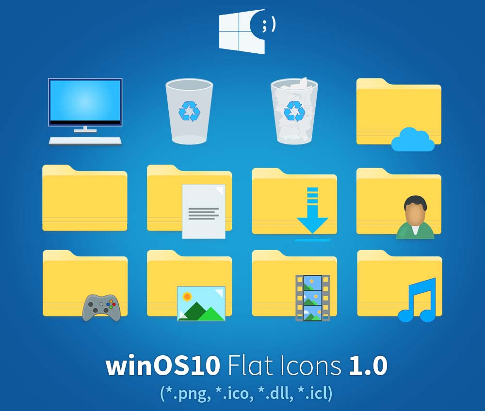 winos10 flat icon pack