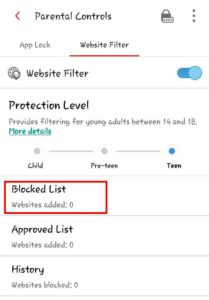 how to block websites on android