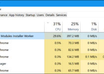 Windows Modules Installer Worker High CPU or High Disk Usage