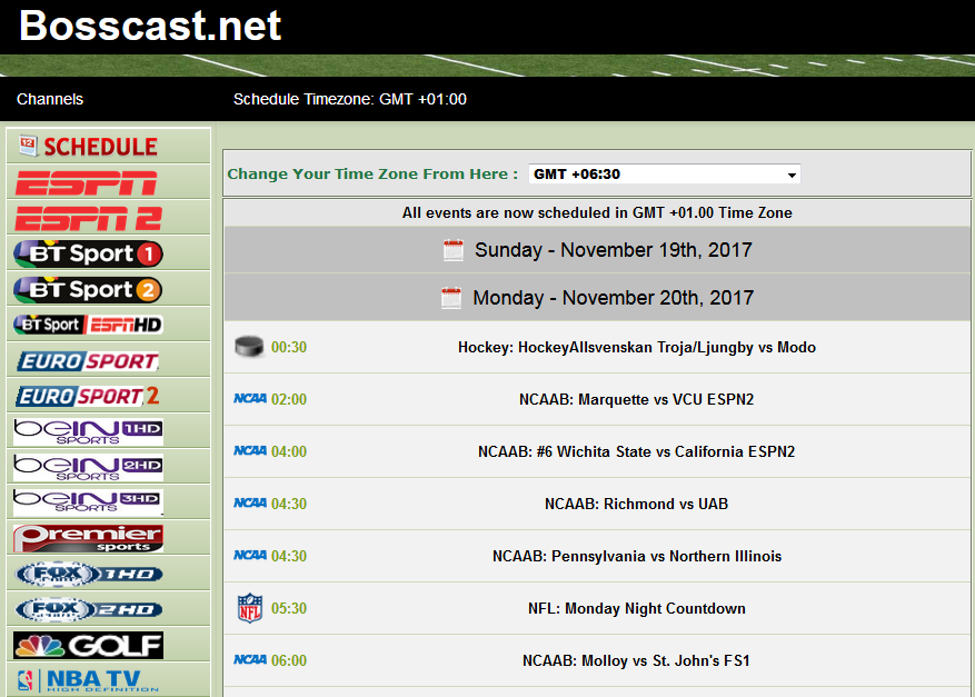 BOSSCAST Free Sports Streaming