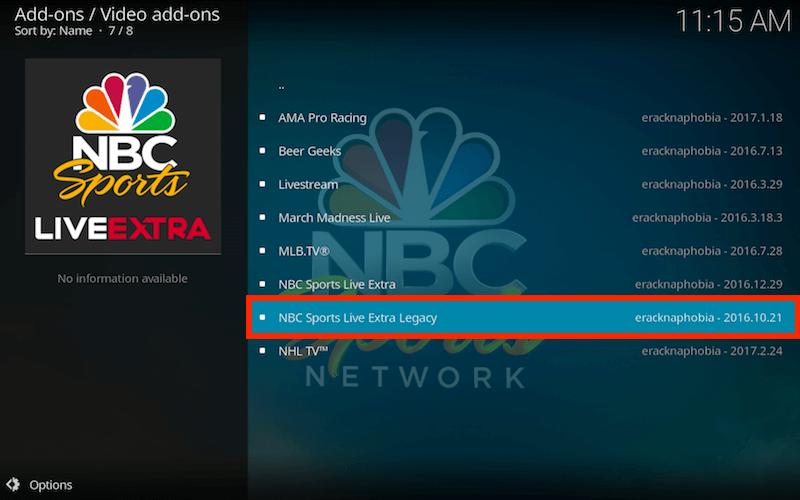 NBC sports streaming