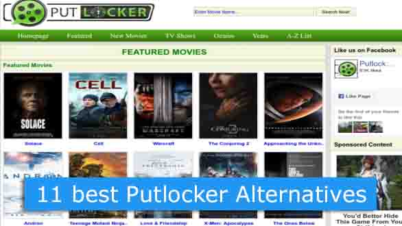 Best Putlocker Alternatives