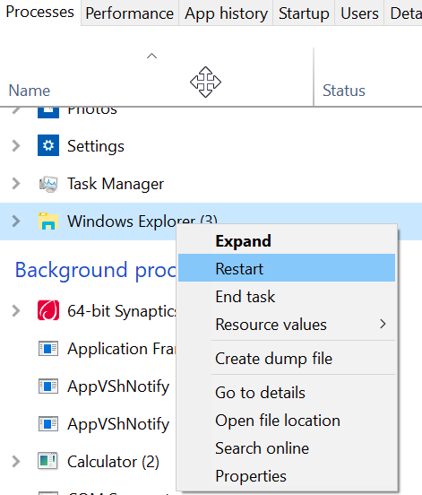 File Explorer not Working on Windows