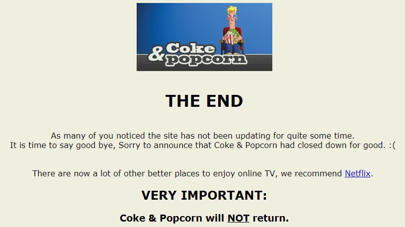 Coke and Popcorn Site Image