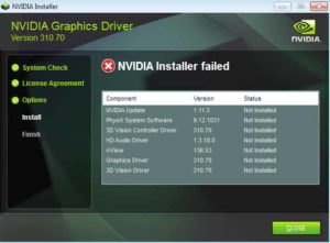 How to Fix Nvidia Installer Failed Windows 10