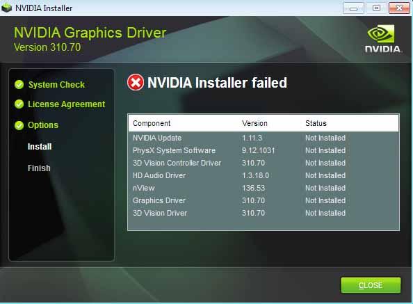 How to Fix Nvidia Installer Failed Windows 10