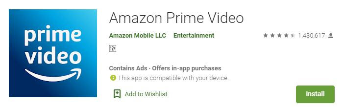 Amazon Prime Video For laptop
