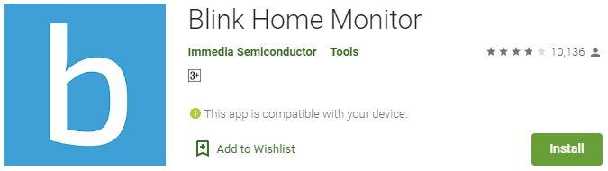 Blink home monitor app for PC