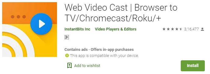 Web Video Cast For PC free download