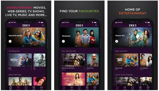 Download Zee5 app for PC