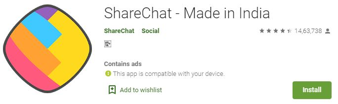 ShareChat App for PC