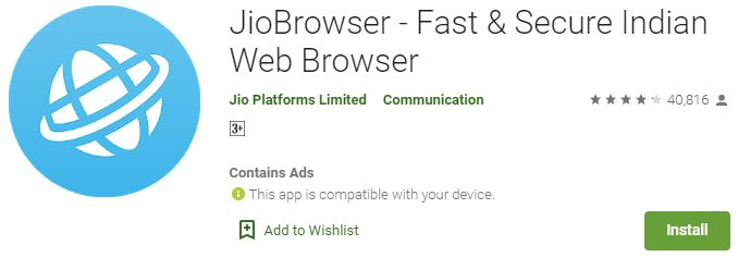 Download Jio Browser for PC