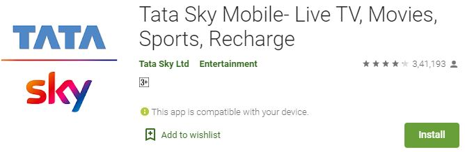 Download Tata Sky Mobile for PC