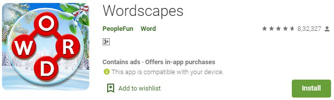 Download Wordscapes for windows PC