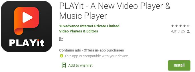 Playit app for PC