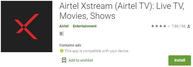 download Airtel Xstream app for PC