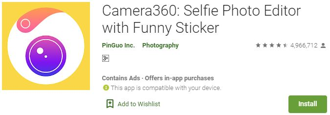 Download Camera360 for Windows PC