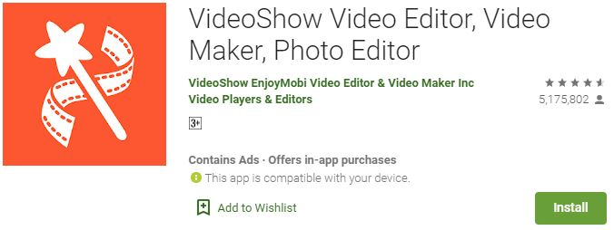 Download VideoShow video editor For Windows PC