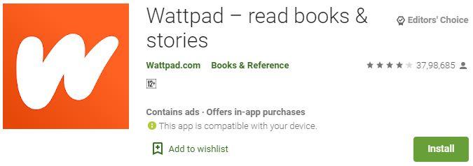 Download Wattpad app for PC