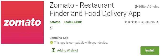 DownloadZomato For Windows