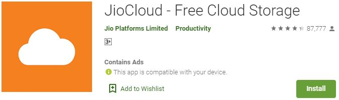 Download Jio Cloud For Windows