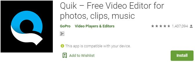 Download Quik Video Editor For Windows