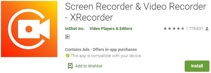 DownloadScreen recorder XRecorder For Windows