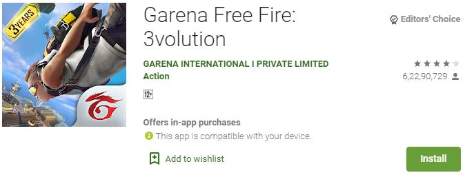 Garena Free Fire for windows mac