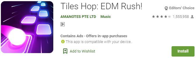 Tiles Hop EDM Rush For Windows