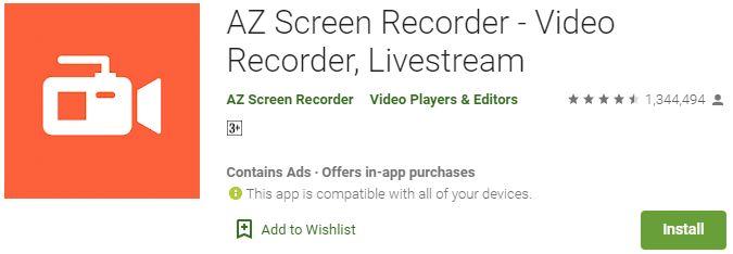 Download AZ Screen Recorder For Windows