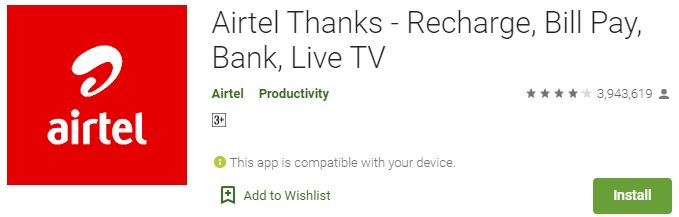 Download Airtel Thanks For Windows