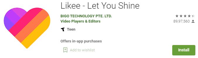 Download Likee app for PC