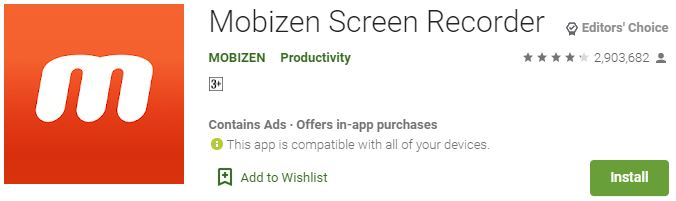 Download Mobizen Screen Recorderfor Windows