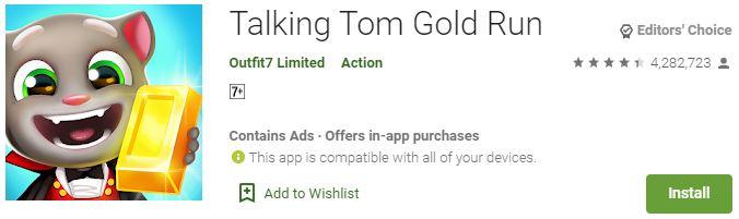Download Talking Tom Gold Run for Windows