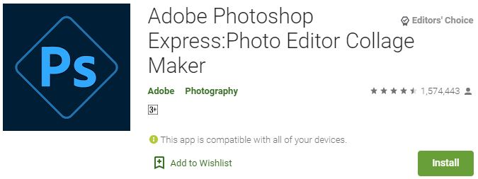 Download Adobe Photoshop Express For PC