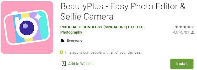 Download BeautyPlus For Windows