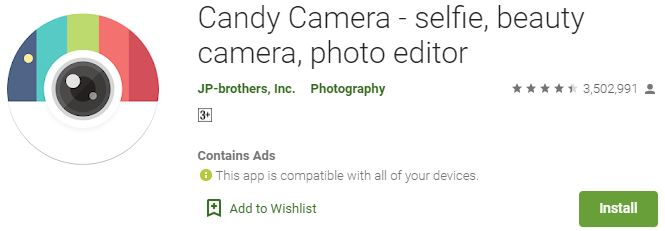 Download Candy Camera For Windows