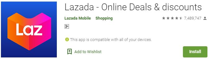 Download Lazada For Windows