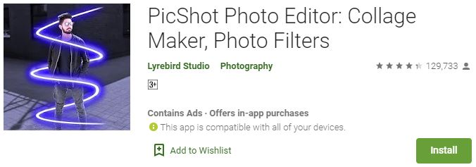Download PicShot Photo Editor For Windows