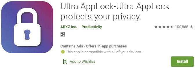 Download Ultra AppLock For Windows
