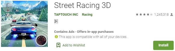 Street Racing 3D For Windows
