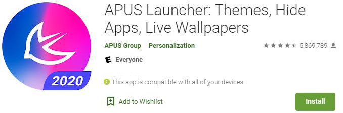 Download APUS Launcher For Windows