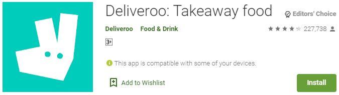 DownloadDeliveroo Takeaway food For Windows