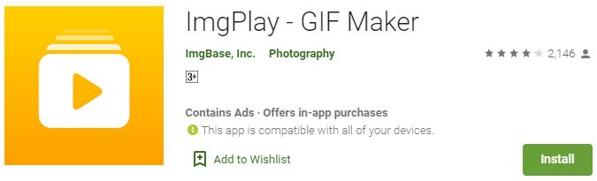 Download ImgPlay - GIF Maker For Windows