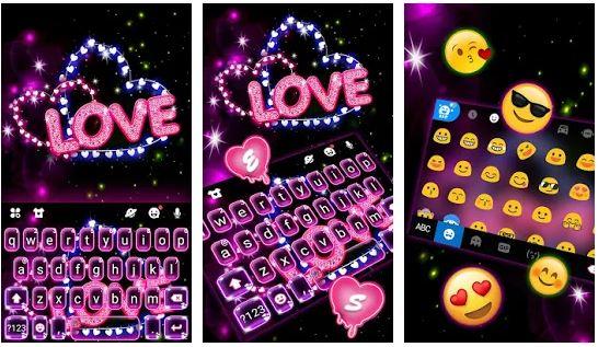Download Neon Love Keyboard Theme For Mac